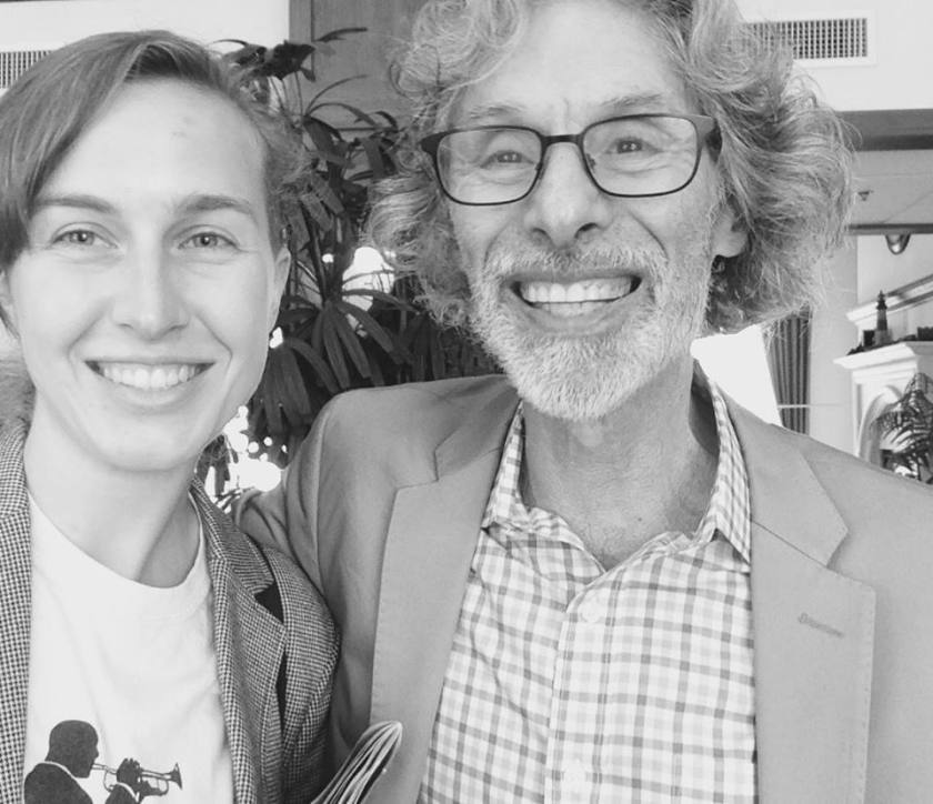 Me & Bob Mankoff (Cartoon Editor of The New Yorker and creator of the above cartoon)